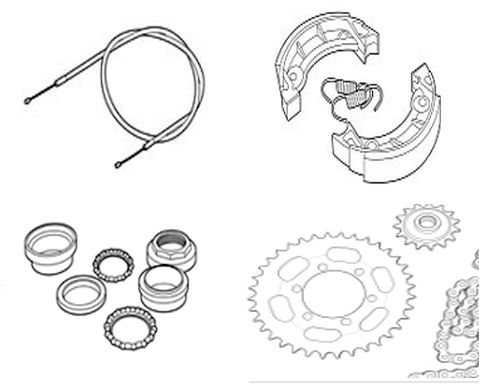 Mechanical parts for your Tomos moped