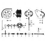 24. Zundapp 529 Rear wheel hub 120MM