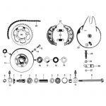 25. Zundapp 529 Rear wheel hub 150MM