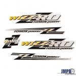 Stickerset Tomos Wizzr'D Yellow/Black