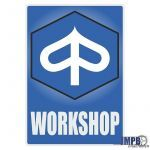 Workshop Sticker Piaggio English