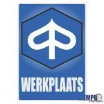 Werkplaats Sticker Piaggio Dutch
