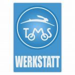 Werkstatt Sticker Tomos Blue Deutsch