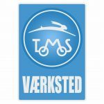 Vaerksted Sticker Tomos Blue Danish