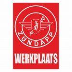 Werkplaats Sticker Zundapp Red Dutch
