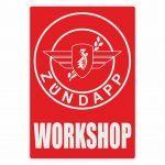 Workshop Sticker Zundapp Red English