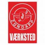 Vaerksted Sticker Zundapp Red Danish