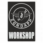 Workshop Sticker Zundapp Black English