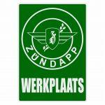 Werkplaats Sticker Zundapp Green Dutch
