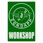 Workshop Sticker Zundapp Green English