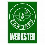Vaerksted Sticker Zundapp Green Danish
