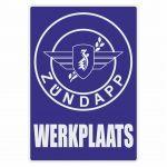 Werkplaats Sticker Zundapp Blue Dutch