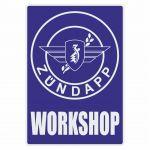 Workshop Sticker Zundapp Blue English