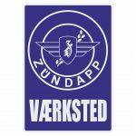 Vaerksted Sticker Zundapp Blue Danish