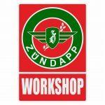 Workshop Sticker Zundapp Red/Green English
