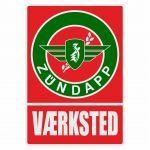 Vaerksted Sticker Zundapp Red/Green Danish