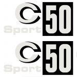 Stickerset Zundapp C50 Sport Black Patch