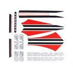Stickerset Zundapp GTS 50 Red/Black