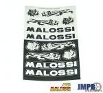 Sticker sheet Malossi Black/Grey
