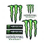 Sticker sheet Monster 6 pieces Big