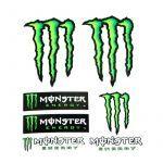 Sticker sheet Monster 6 pieces Medium