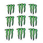 Sticker sheet Monster 10 pieces