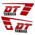 Stickerset Yamaha DT50MX Red/White