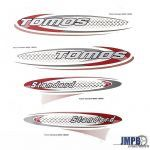 Stickerset Tomos Standard Red/Black/Silver