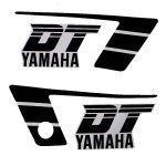Stickerset Yamaha DT50MX Black/White