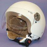 Helmet Jet Retro Leather MT White