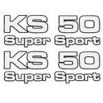 Stickerset Zundapp KS50 Supersport 4-Pieces