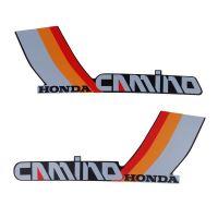 Stickerset Tank Honda Camino Red/Orange/Grey